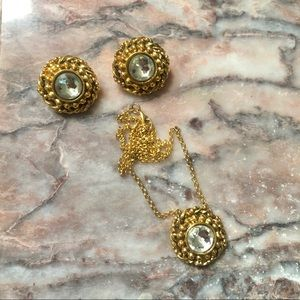 Auth Chanel Earring Set Clip-ons